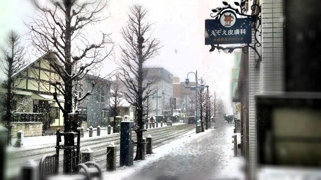 移転記念の雪景色です。